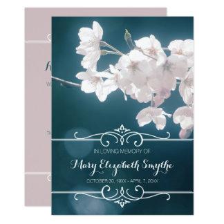 告別式の桜の桜の花 12.7 X 17.8 インビテーションカード