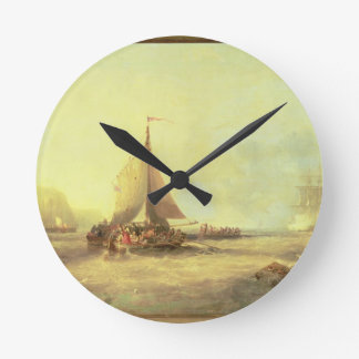 告別、公平なイギリス1858年 ラウンド壁時計