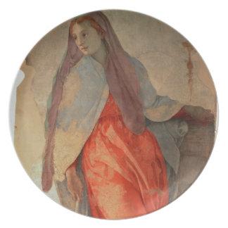 告知、ヴァージンの詳細、c.1527 (fr プレート