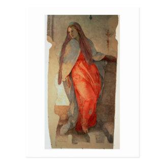 告知、ヴァージンの詳細、c.1527 (fr ポストカード