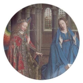 告知、c. 1434年- 36 (キャンバスの油) プレート