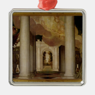 告知、c.1551-53 (キャンバスの油) メタルオーナメント