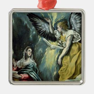 告知、c.1575 (キャンバスの油) メタルオーナメント