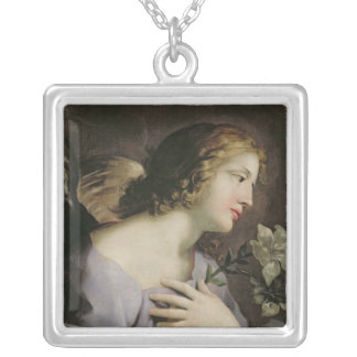 告知、c.1650の天使 シルバープレートネックレス