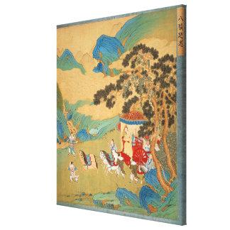 周の王朝の皇帝Mu Wang キャンバスプリント