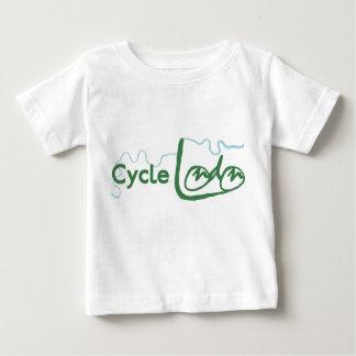 周期のロンドンの緑のロゴのTシャツ ベビーTシャツ