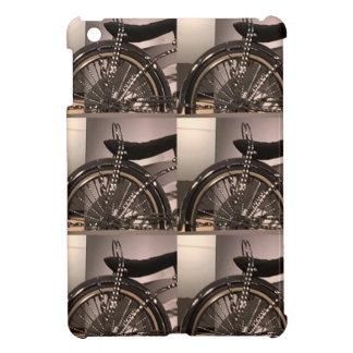 周期の自転車の芸術の写実的なdecoのテンプレートは文字を加えます iPad mini カバー