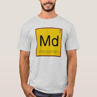 周期的な州-メリーランド (MD) Tシャツ