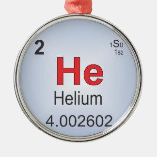 周期表のヘリウムの個々の要素 メタルオーナメント