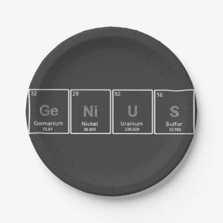 周期表の天才紙皿 ペーパープレート