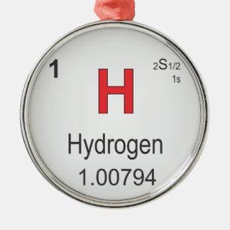 周期表の水素の個々の要素 メタルオーナメント