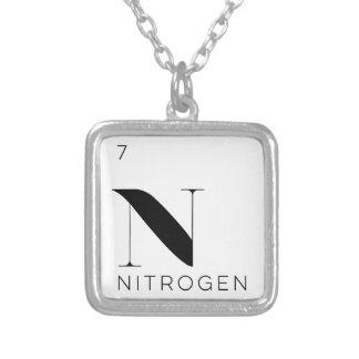 周期表の要素のネックレスの//窒素 シルバープレートネックレス