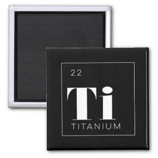 周期表の要素ボタンの//のチタニウム マグネット