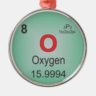 周期表の酸素の個々の要素 メタルオーナメント