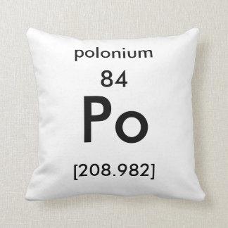周期表84のポロニウムの枕 クッション