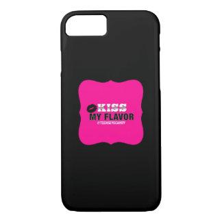味のVapeの私のピンクに接吻して下さい iPhone 8/7ケース