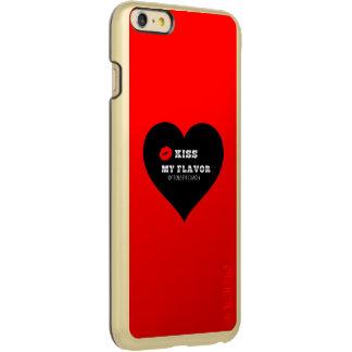 味のVapeの私の赤く黒いハートに接吻して下さい Incipio Feather Shine iPhone 6 Plusケース