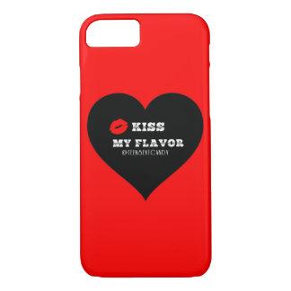 味のVapeの私の赤く黒いハートに接吻して下さい iPhone 8/7ケース