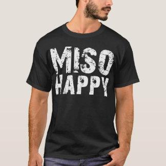 味噌の幸せな味噌汁の味噌汁のTシャツ Tシャツ