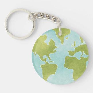 味方される汚れたきれいな地球Keychain 2 キーホルダー