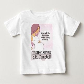 味見の銀製ファン ベビーTシャツ