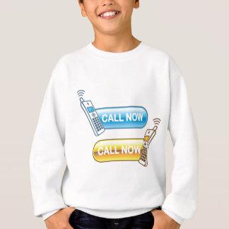 呼出しは今家の電話が付いているくもの巣にボタンをかけます スウェットシャツ