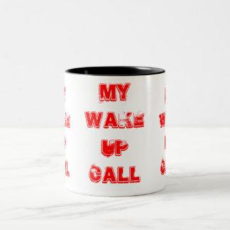 呼出しマグを目覚めて下さい ツートーンマグカップ