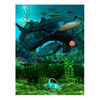 呼出し水生生命3D ポストカード
