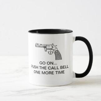 呼出し鐘をもう一度押して下さい マグカップ