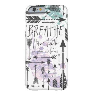 呼吸して下さい-信頼の電話箱を持って下さい BARELY THERE iPhone 6 ケース