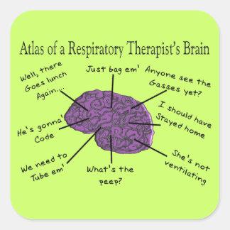 呼吸療法士の頭脳の地図書 スクエアシール