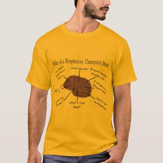 呼吸療法士の頭脳IIの地図書 Tシャツ