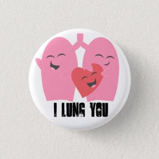 呼吸療法士Iの肺肺RTにボタンをかけます 缶バッジ
