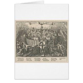 和平条約ゲントAdriaenを描写するアレゴリー カード