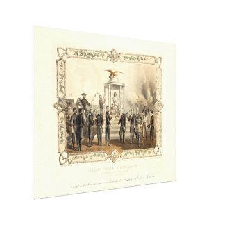 和解の大統領のリンカーン最後の提供 キャンバスプリント