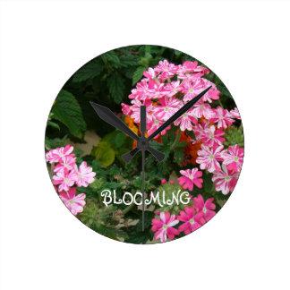 咲くこと ラウンド壁時計