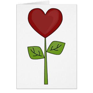咲くハートの花-友情 カード