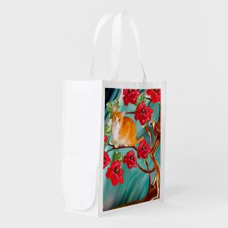 咲く友情の木の隣人の買い物袋 エコバッグ