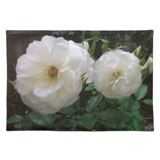咲く白いバラ ランチョンマット