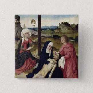 哀悼、c.1455-60 5.1cm 正方形バッジ