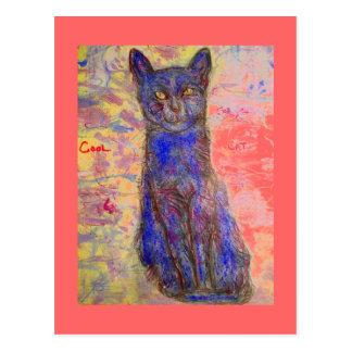 哲学のクールな猫 ポストカード