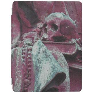 哲学のスカル、本及びビーズ(真夜中の藤色) iPadスマートカバー