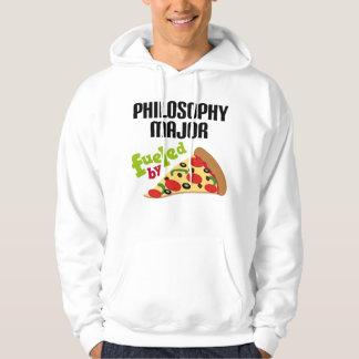 哲学の専攻のなギフト(ピザ) パーカ