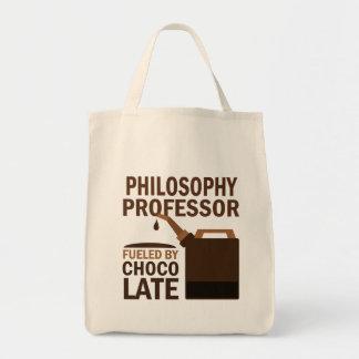 哲学教授(おもしろいな)チョコレート トートバッグ