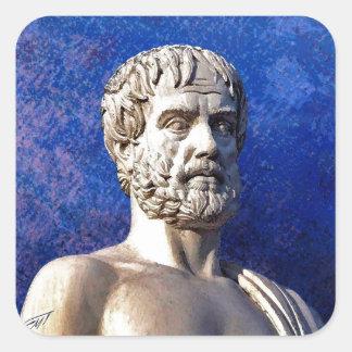 哲学者のアリストテレスのバスト スクエアシール