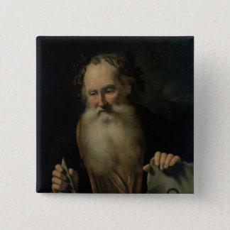 哲学者1686年 5.1CM 正方形バッジ