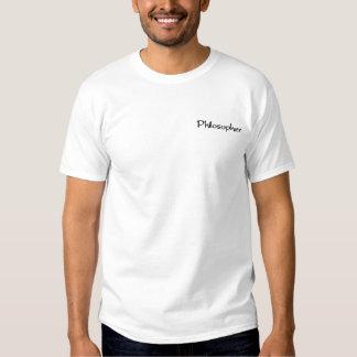 哲学者 刺繍入りTシャツ