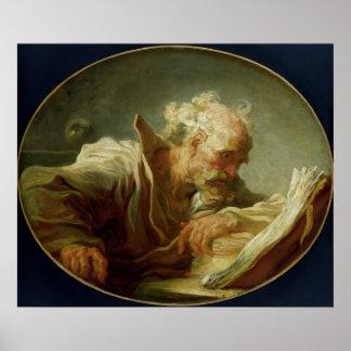 哲学者、c.1764 ポスター