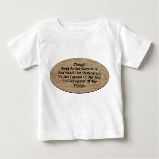 哲学、自己断言のTシャツ ベビーTシャツ