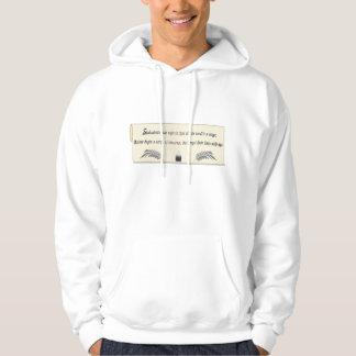 哲学、詩的なフード付きのスエットシャツ パーカ